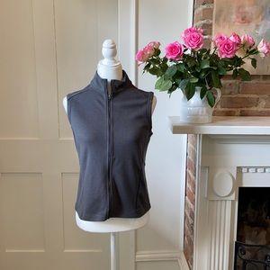 Ibex zip up sleeveless merino wool vest in Sz M